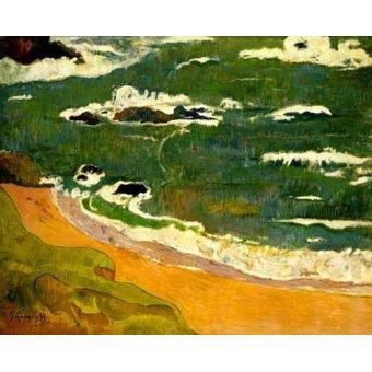 cuadros de marinas - Cuadro -Playa de Le Poldu- - Gauguin, Paul