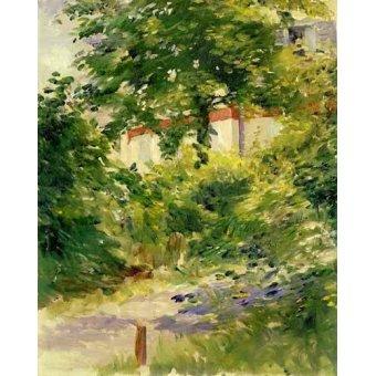 - Cuadro -Un rincón del jardín de Rueil- - Manet, Eduard