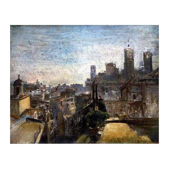 cuadros de paisajes - Cuadro -Un rincón del jardín de Rueil-