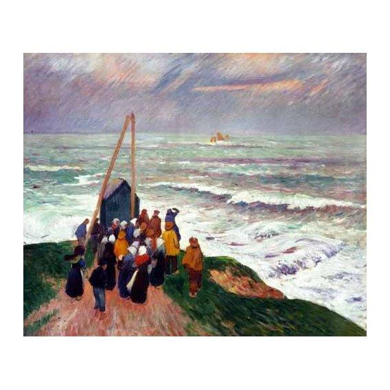 cuadros de marinas - Cuadro -Barcelona desde una azotea de la riera de Sant Joan-