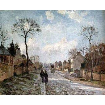Cuadro -Paisaje de invierno en Louveciennes-