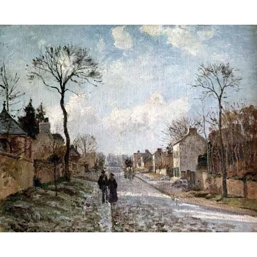 cuadros de paisajes - Cuadro -La isla Lacroix Rouen efecto de niebla-