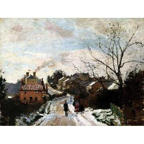 cuadros de paisajes - Cuadro -Paisaje de invierno en Louveciennes-