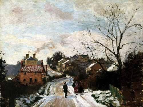 cuadros-de-paisajes - Cuadro -Lower Norwood bajo la nieve- - Pissarro, Camille