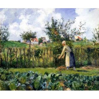 - Cuadro -The cutting of the hedge- - Pissarro, Camille