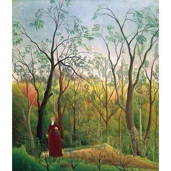 - Cuadro -Paseo por el bosque- - Rousseau, Henri