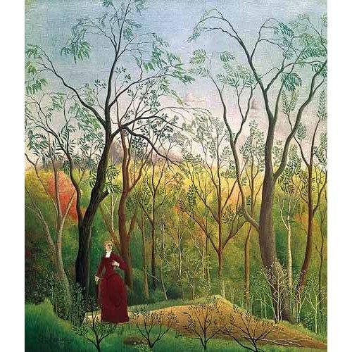 cuadros de paisajes - Cuadro -Paseo por el bosque-