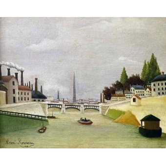 - Cuadro -Pont de Paris- - Rousseau, Henri