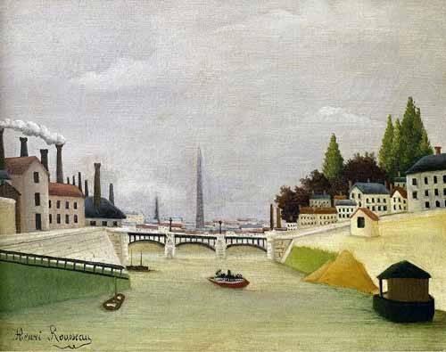 cuadros-de-paisajes - Cuadro -Pont de Paris- - Rousseau, Henri