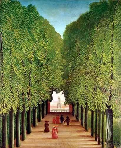 cuadros-de-paisajes - Cuadro -Avenida del parque Saint Cloud- - Rousseau, Henri