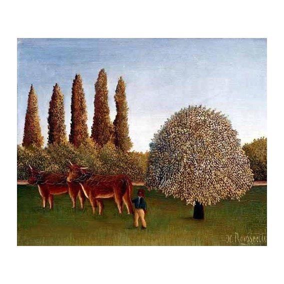 cuadros de paisajes - Cuadro -Paisaje con vacas-