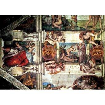 - Cuadro -Bóveda: Creación de Eva, le Profeta Ezequiel- - Buonarroti, Miguel Angel
