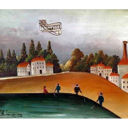 Cuadro -Los pescadores de caña y el avión-