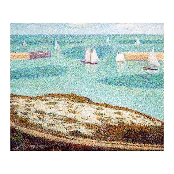 cuadros de marinas - Cuadro -Entrada al puerto-