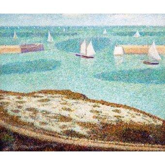 cuadros de marinas - Cuadro -Entrada al puerto- - Seurat, Georges