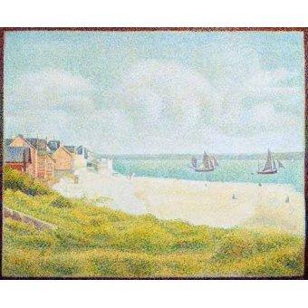 cuadros de marinas - Cuadro -Vista desde Crotoy desde el sur- - Seurat, Georges