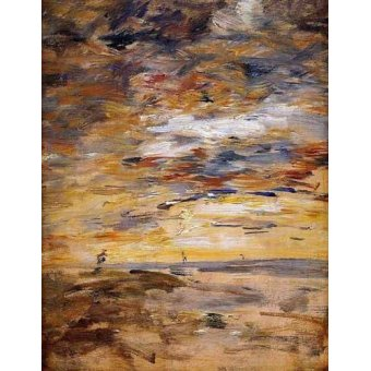 - Cuadro -Sky at sunset- - Boudin, Eugene