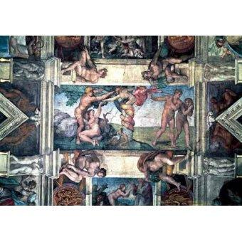cuadros religiosos - Cuadro -Bóveda: Pecado original- - Buonarroti, Miguel Angel