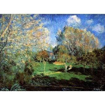 - Cuadro -Garden- - Sisley, Alfred