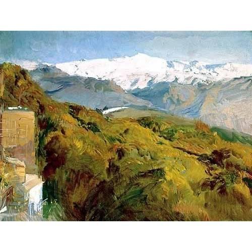 cuadros de paisajes - Cuadro -Vista de Sierra Nevada-