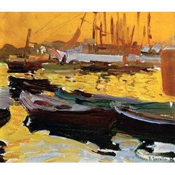 cuadros de marinas - Cuadro -Puerto de Valencia- - Sorolla, Joaquin