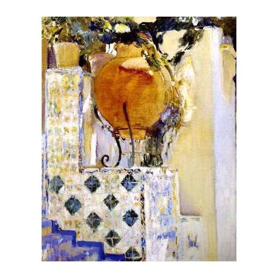 cuadros de paisajes - Cuadro -Jardín de la casa del artista VI-