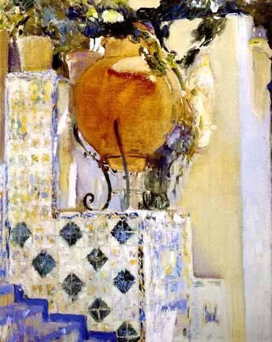 cuadros-de-paisajes - Cuadro -Jardín de la casa del artista VI- - Sorolla, Joaquin