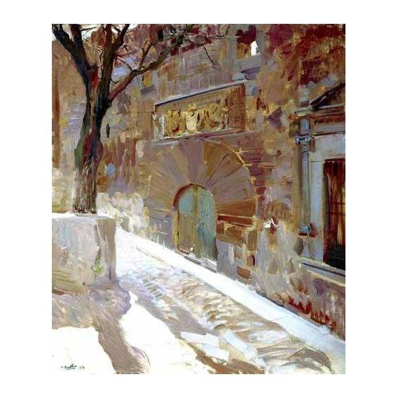cuadros de paisajes - Cuadro -Calle de Avila-