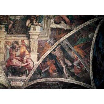 - Cuadro -Bóveda: El Castigo de Amán, el Profeta Jeremias- - Buonarroti, Miguel Angel