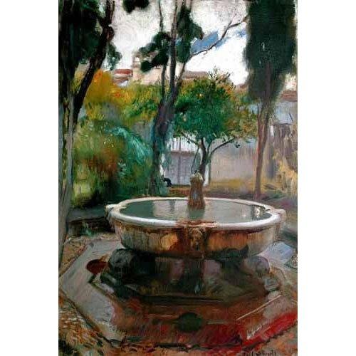 Cuadro -Jardines del Alcazar de Sevilla II-
