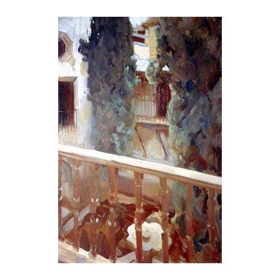 cuadros de paisajes - Cuadro -La Alhambra de Granada, balcón-