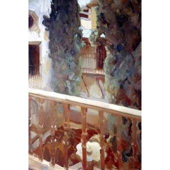 - Cuadro -La Alhambra de Granada, balcón- - Sorolla, Joaquin
