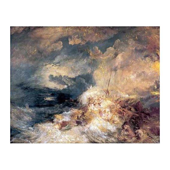 cuadros de marinas - Cuadro -Incendio en el mar-