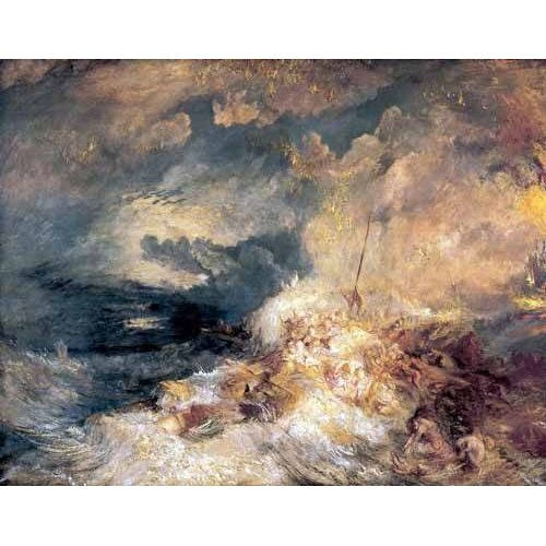 Cuadro -Incendio en el mar-
