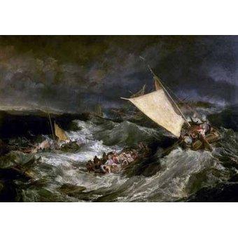 cuadros de marinas - Cuadro -Naufragio de barco de transporte- - Turner, Joseph M. William