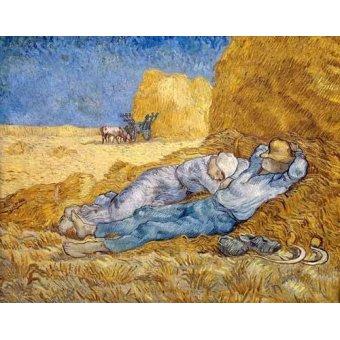 - Cuadro -La siesta- - Van Gogh, Vincent