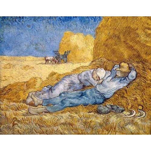 cuadros de paisajes - Cuadro -La siesta-