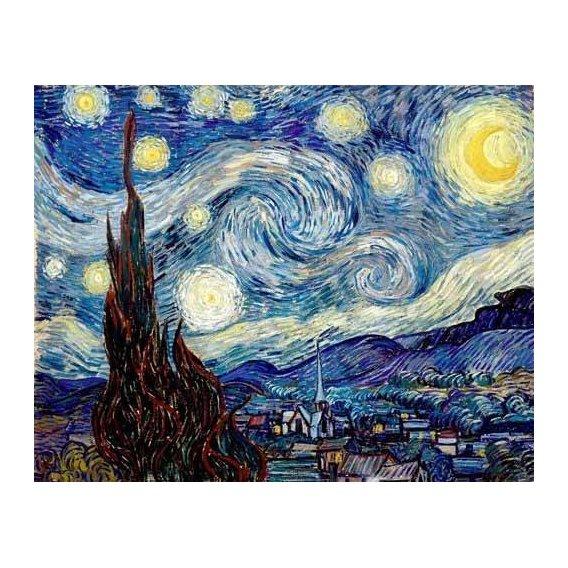 cuadros de paisajes - Cuadro -La noche estrellada-