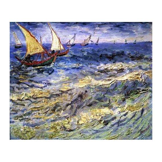 cuadros de marinas - Cuadro -Marea cerca de Santa María-