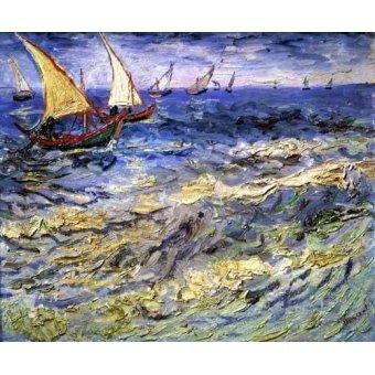 cuadros de marinas - Cuadro -Marea cerca de Santa María- - Van Gogh, Vincent