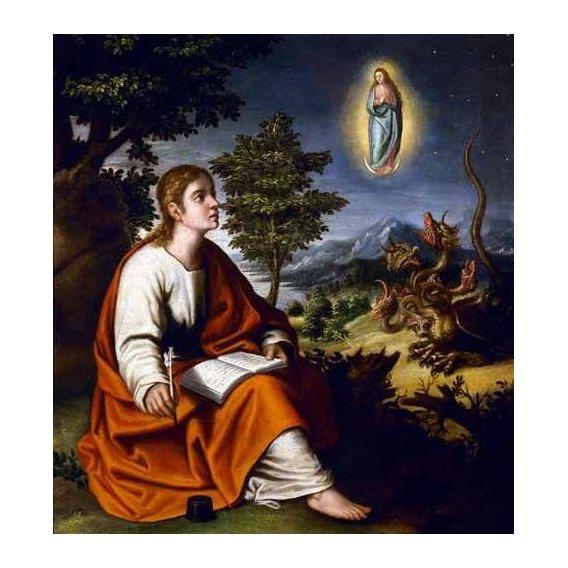 cuadros religiosos - Cuadro -Visión de San Juan Evangelista-