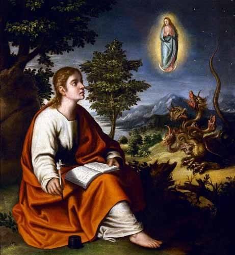 cuadros-religiosos - Cuadro -Visión de San Juan Evangelista- - Cotan, Juan Sanchez