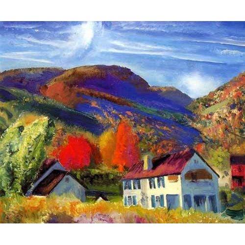 cuadros de paisajes - Cuadro -Mi casa, Woodstock-