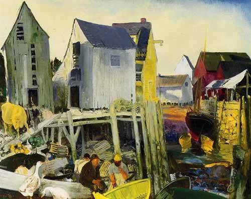cuadros-de-paisajes - Cuadro -Matinicus- - Bellows, George
