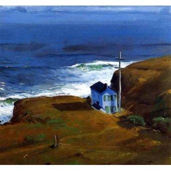 cuadros de marinas - Cuadro -Shore House- - Bellows, George