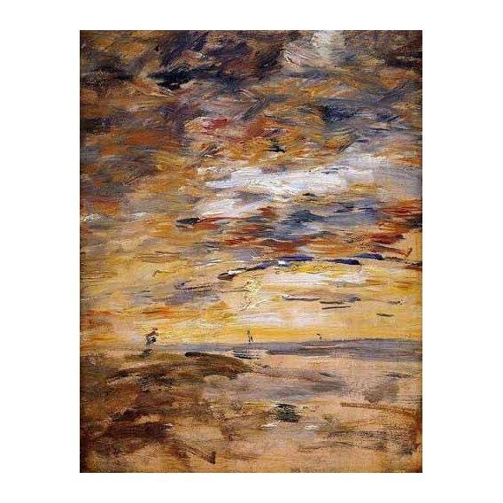 cuadros de paisajes - Cuadro -Cielo al atardecer-