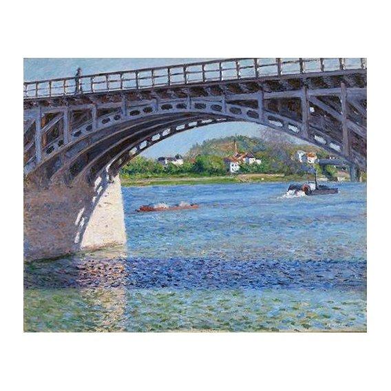 cuadros de paisajes - Cuadro -El puente de Argenteuil y el Sena-