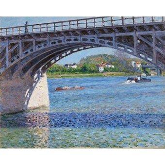 - Cuadro -El puente de Argenteuil y el Sena- - Caillebotte, Gustave
