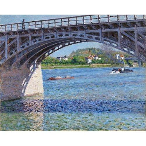 Cuadro -El puente de Argenteuil y el Sena-