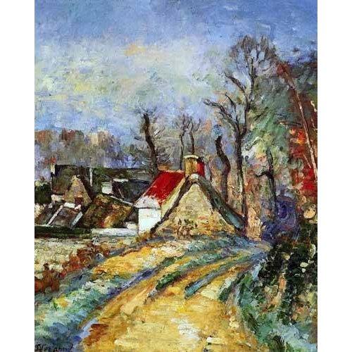 cuadros de paisajes - Cuadro -Curva en el camino de Auvers-
